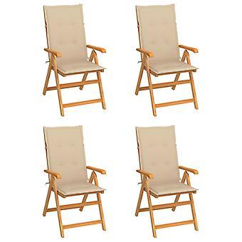 vidaXL כיסאות גן 4 יח'.