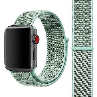 Nylon Fashion Watch band with Magic Stick for Apple Watch Series 3 & 2 & 1 42mm Mint Green