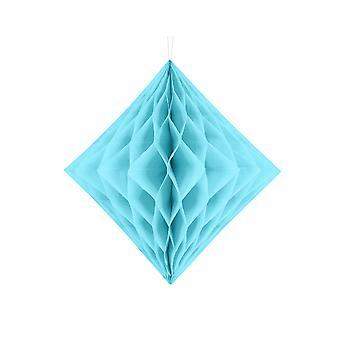 LAST FEW - 30cm Light Blue Diamond Honeycomb Paper Party Decorations