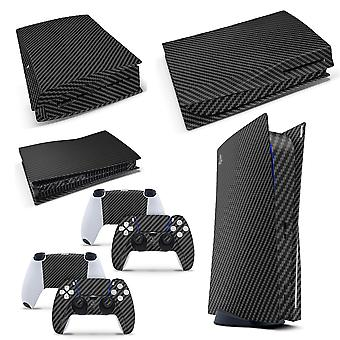 Playstation 5 PS5 Disk Console Skin Vinyl Cover Decal Stickers + 2 Controller Skins Set