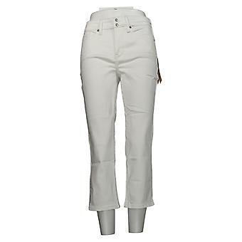 NYDJ Pantalon Femme Cool Embrace Skinny Crop Side Fentes Blanc A377695