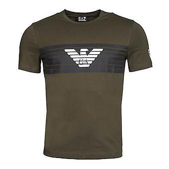 Men's Short Sleeve T-Shirt Armani Jeans 6ZPT29 PJ18Z Green