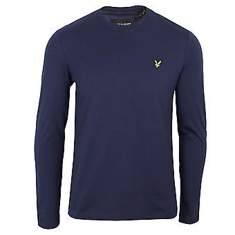 Lyle & scott men's navy long sleeve t-shirt