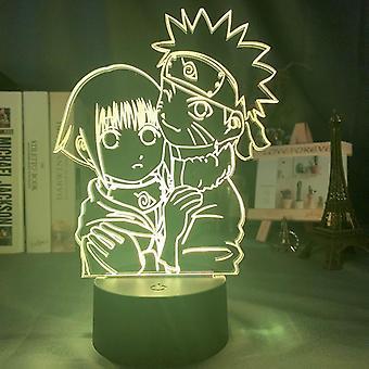 Japanese Anime Naruto Figure 3d Night Lamp For Bedroom Decor
