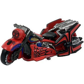 Alloy spiderman motrocycle modello simulazione auto giocattoli per bambini tc140