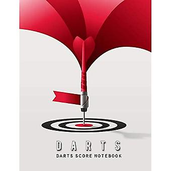 Darts Score Notebook: Darts� Game Record Keeper Book, Darts Scoresheet, Darts Score Card, Darts Score Sheet has space record scores for everybody favorite pub game, Size 8.5 x 11 Inch, 100 Pages