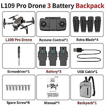 L109 pro gps drón 5g wifi 800m fpv 4k hd kamerával 2-a& amp; xis rázásgátló önstabilizáló
