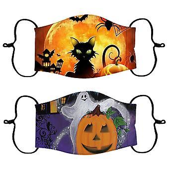 Маска для лица на Хэллоуин, многоразовая маска для лица