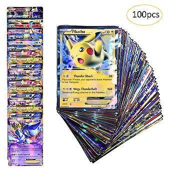 100pcs Seltene Pokemon Karten Tcg Style Holo Ex Full Art Poker Karten