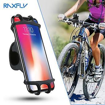 360スイベル自転車ハンドルバーシリコーン電話ホルダー