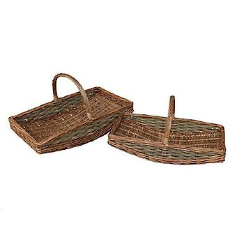 Full Unpeeled Set of 2 Garden Trugs