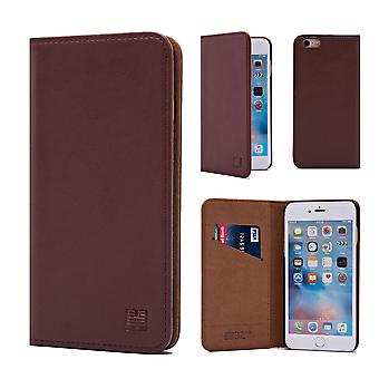 32nd Classic Real Leather Wallet for Apple iPhone 6 Plus - Dark Brown