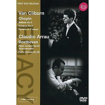 Chopin/Beethoven - Legacy: Cliburn Arrau Piano Recital [DVD] USA import