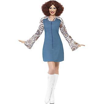 70 's kostuum dames Groovy danseres jurk blouse Dancerkostüm