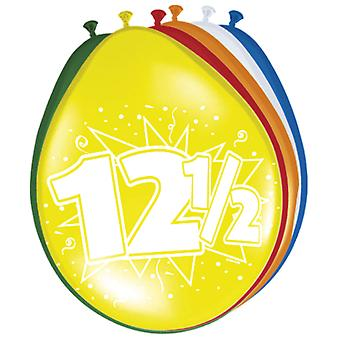 Ballon bunt Luftballons Zahl 12,5 Petersilien Hochzeit 8 St. Deko Ballons Party