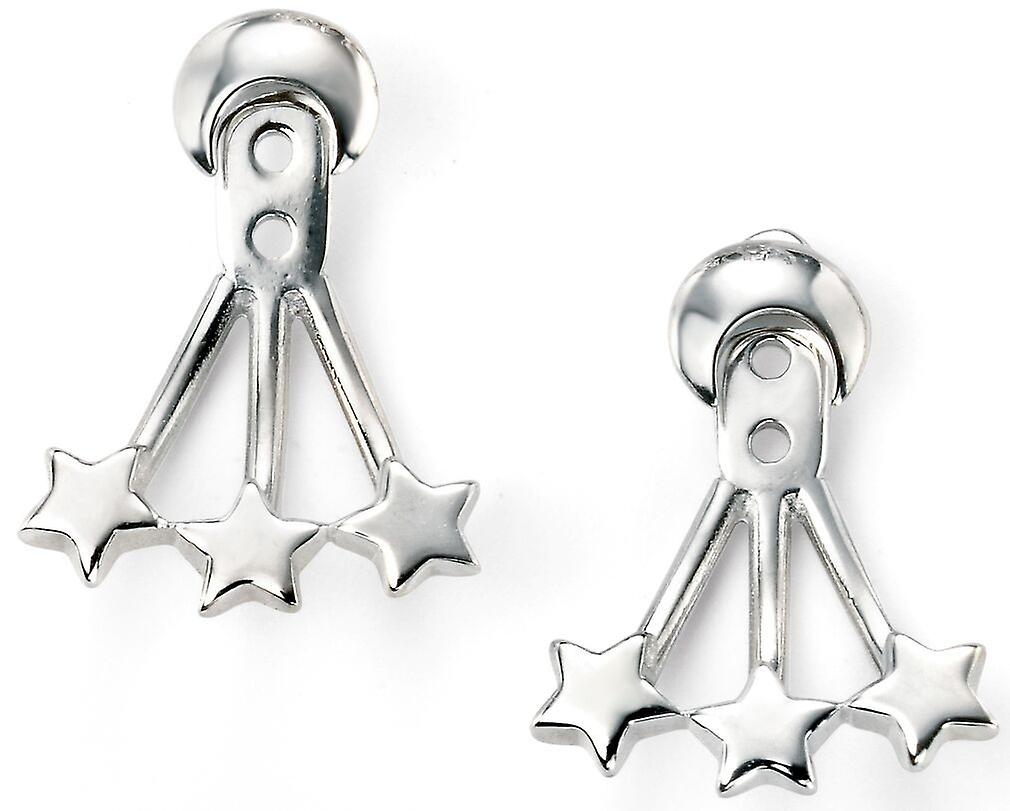 925 Silver Stars And Crescent Moon Earring