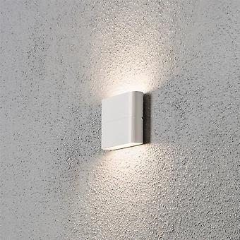 Konstsmide Chieri veggen skive hagen veggen lys, hvit