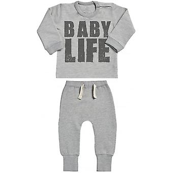 Spoilt Rotten Baby Life Sweatshirt & Joggers Baby Outfit Set