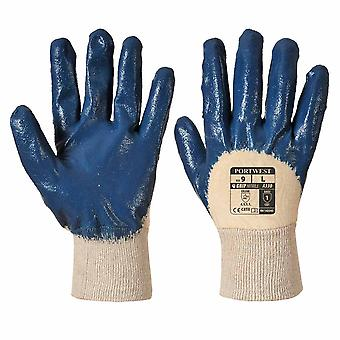 Portwest - Nitrile Light Knitwrist Work Grip Gloves (1 Pair Pack)