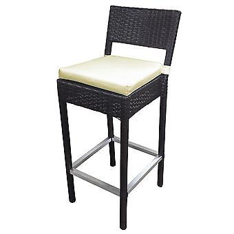 Preston geweven Wicker buitenbar stoel/kruk