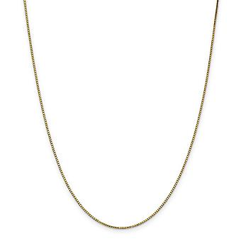 14k Yellow Gold Polished 1.1mm Box Chain Anklet 9 Inch Lobster Claw Jewelry Gifts for Women