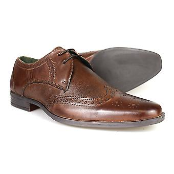 Silver Street London West Mens Brown Leather Formal Brogues