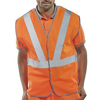 B-vu Rail Spec Hi Vis gilet 100 % Polyester Go/Rt 3279 - Rsv02P