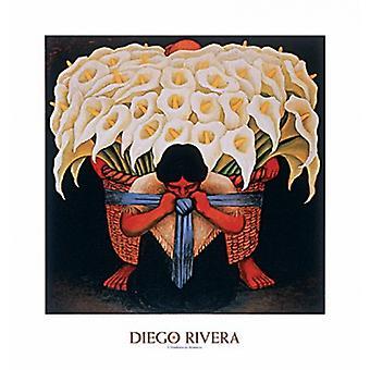 El Vendedor de Alcatreces plakat Print af Diego Rivera (x 32)