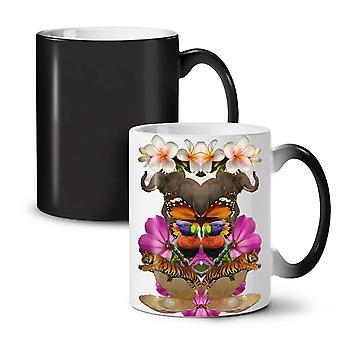 Random Collage NEW Black Colour Changing Tea Coffee Ceramic Mug 11 oz | Wellcoda