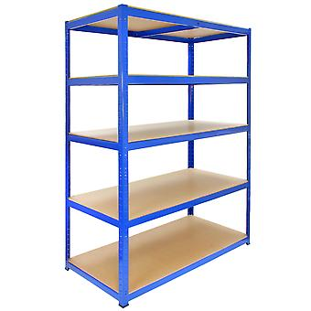 9 x Garage Shelving / Extra Large Shed Racking Unit 120cm Wide x 60cm Deep T-RAX + FREE Rubber Mallet