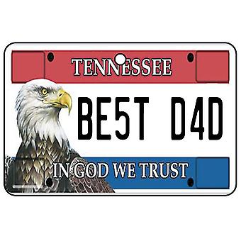 Tennessee - Best Dad License Plate Car Air Freshener