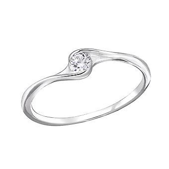 الملتوية - 925 الجنيه الاسترليني خواتم الفضة مرصع بالجواهر - W29235X