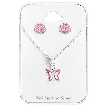 Butterfly - 925 Sterling Silver Sets - W28989X