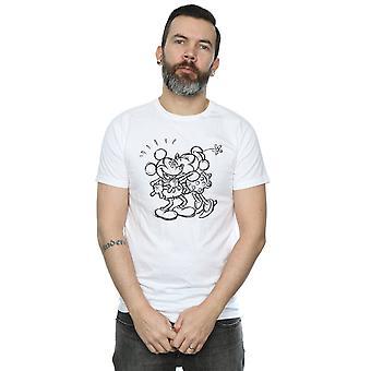 Mickey und Minnie Mouse Disney Männer küssen Skizze T-Shirt