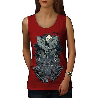 Midnight Demon Women RedTank Top | Wellcoda