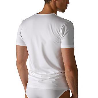 Algodão seco branco com decote em v manga curta Top Mey 46007 masculino