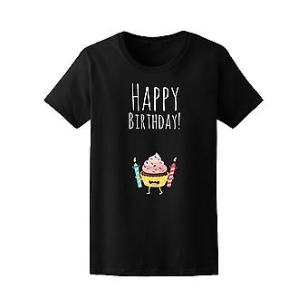 Comic Happy Birthday Cupcake Tee Women's -Image by Shutterstock