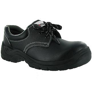 Centek Mens FS337 Leather S1 Work Safety Shoe Black
