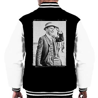Frank Sinatra Heathrow Airport 1961 Vintage Photo mannen Varsity Jacket