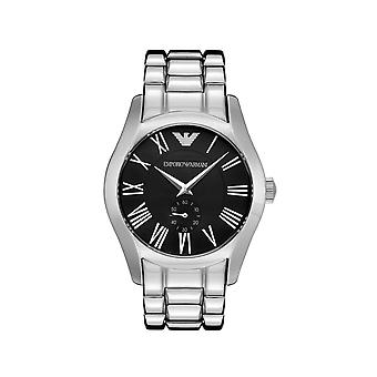 Emporio Armani AR0680 Mens Stainless Steel Bracelet With Black Dial Watch