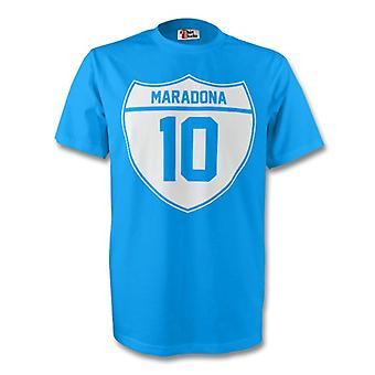 Diego Maradona Napoli Crest Tee (sky Blue)