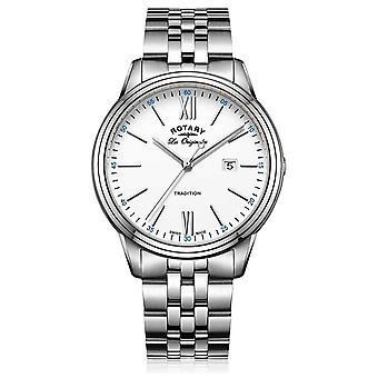 Rotary Mens Stainless Steel Bracelet White Dial GB90194/01 Watch