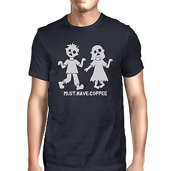 On oltava kahvi zombeja Miesten Halloween t-paita hauska graafinen t-paita