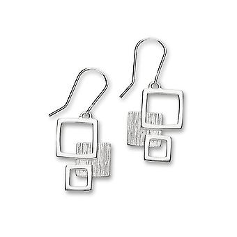 Sterling Silver Traditional Contemporary Modern Simply Stylish Design Pair of Earrings - E1565