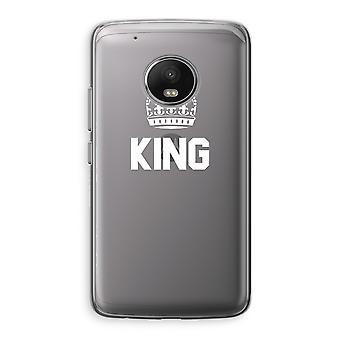 Motorola Moto G5 boîtier Transparent (doux) - King noir