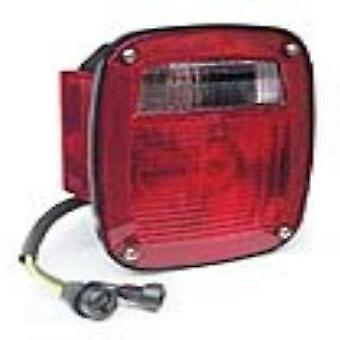 Grote 52812 Three-Stud, Chevrolet Ford Jeep Stop Tail Turn Light (w/Side Marker & Molded Pigtail Termination, w/License
