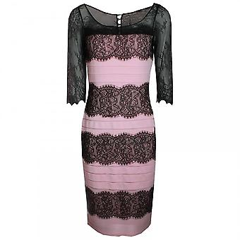 Veromia Occasions Lace Panel Long Sleeve Dress