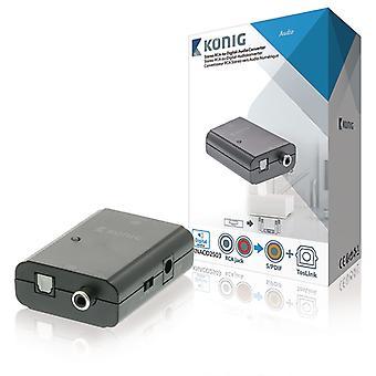 Convertisseur audio numérique-RCA-TosLink-SPDIF