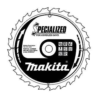 Makita B-57320 TCT hoja de sierra hoja 165x56T Efficut para inalámbrico