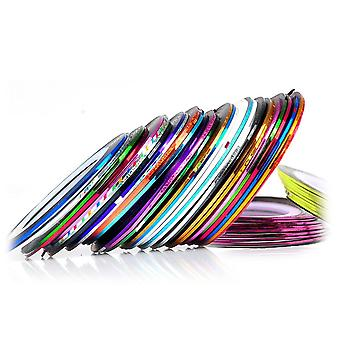 30 pcs mixte couleurs Rolls Striping Tape